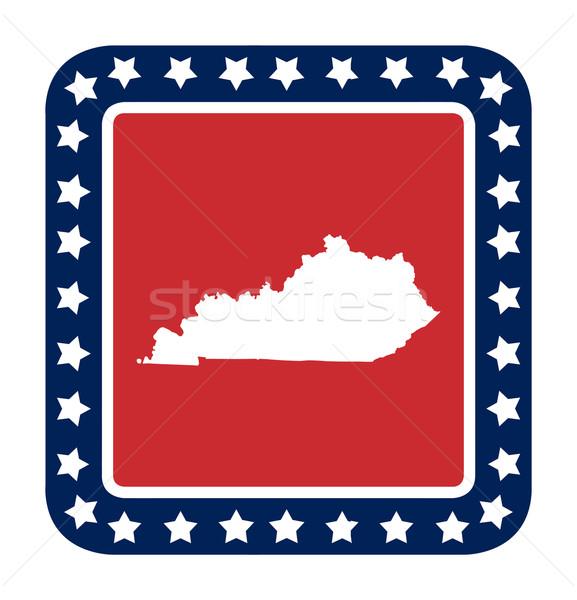 Kentucky knop Amerikaanse vlag web design stijl geïsoleerd Stockfoto © speedfighter