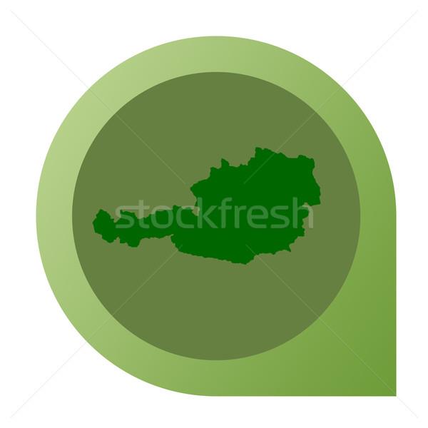 Isolated Austria map marker pin Stock photo © speedfighter