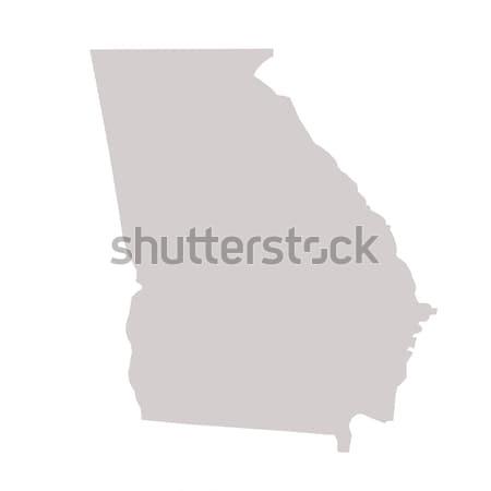 Грузия карта изолированный белый США Америки Сток-фото © speedfighter