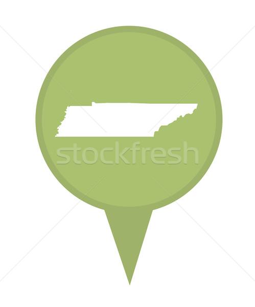 Tennessee Pokaż pin amerykański znacznik odizolowany Zdjęcia stock © speedfighter