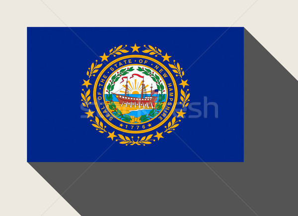 Americano New Hampshire bandera diseno web estilo botón Foto stock © speedfighter