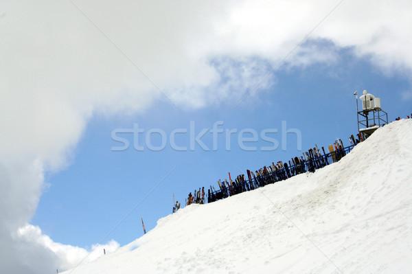 Ladera marco cielo espacio de la copia deporte azul Foto stock © speedfighter