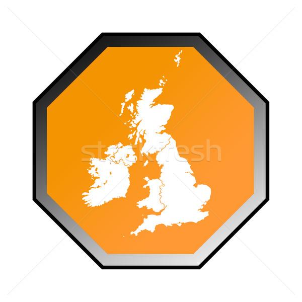 Regno Unito cartello stradale isolato bianco mappa Inghilterra Foto d'archivio © speedfighter