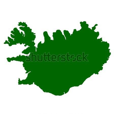 öreg zöld térkép Tádzsikisztán mintázott papír Stock fotó © speedfighter