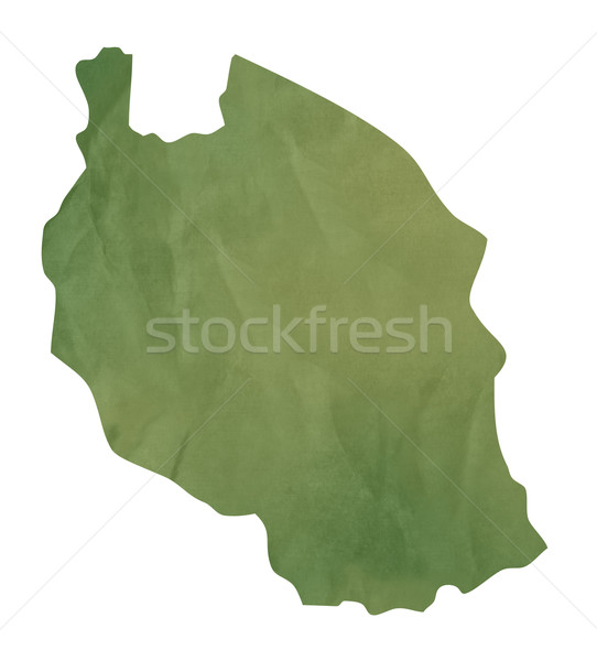 Old green paper map of Tanzania Stock photo © speedfighter