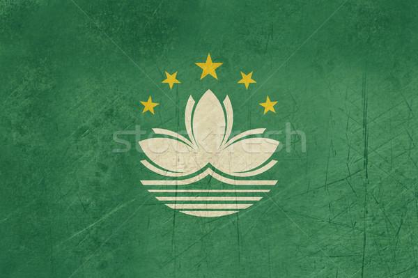 Grunge Macau Flag Stock photo © speedfighter