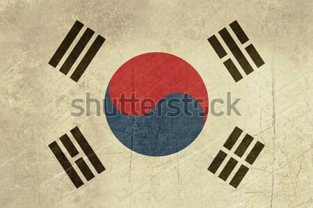 Foto d'archivio: Grunge · Corea · del · Sud · bandiera · paese · ufficiale · colori