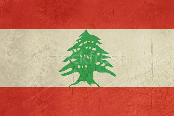 Grunge Libanon zászló vidék hivatalos színek Stock fotó © speedfighter