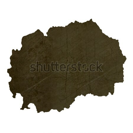 Dark silhouetted map of El Salvador Stock photo © speedfighter