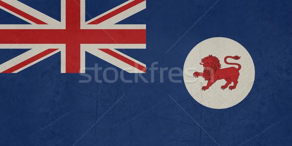 Grunge tasmanië vlag australisch icon Stockfoto © speedfighter