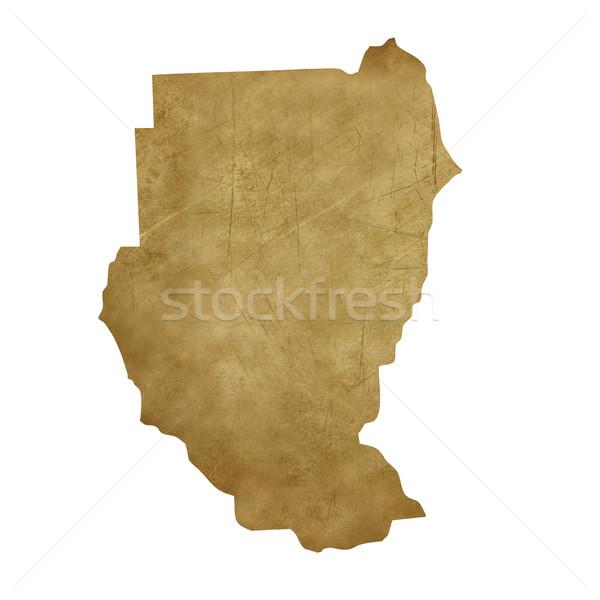 Szudán grunge kincstérkép térkép kincs stílus Stock fotó © speedfighter