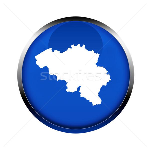ベルギー 地図 ボタン 色 ヨーロッパの 組合 ストックフォト © speedfighter