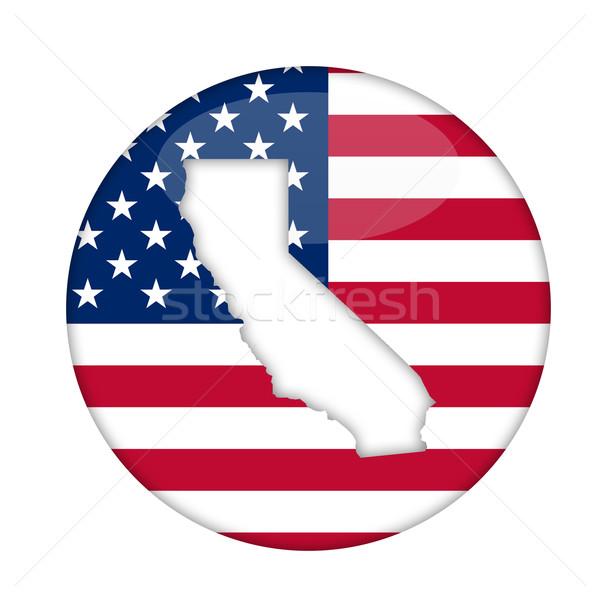 Californie Amérique badge isolé blanche affaires Photo stock © speedfighter