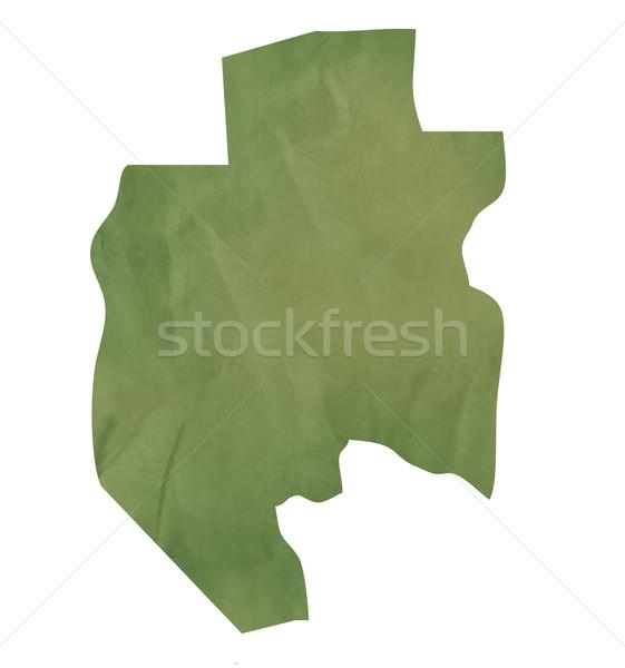 старые зеленый бумаги карта Габон изолированный Сток-фото © speedfighter