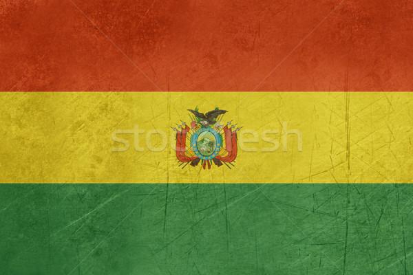 Grunge Bolívia zászló vidék hivatalos színek Stock fotó © speedfighter