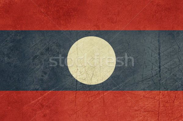 Grunge Laos pavillon pays officielle couleurs Photo stock © speedfighter