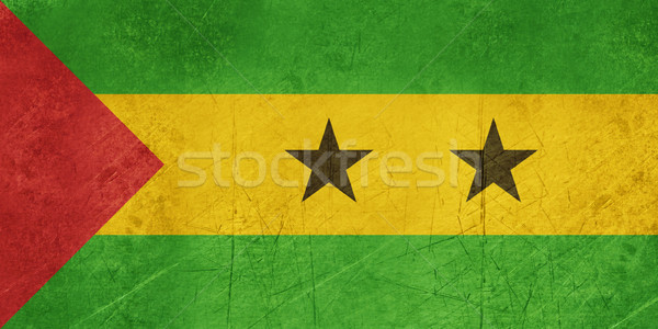Grunge Sao Tome and Principe Flag Stock photo © speedfighter