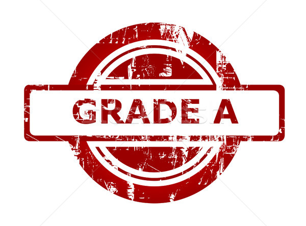 Grade A red stamp Stock photo © speedfighter