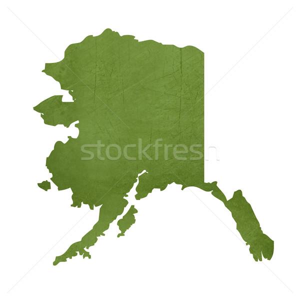 Alaska isolé blanche carte Photo stock © speedfighter