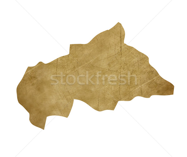 Central African Republic grunge treasure map Stock photo © speedfighter