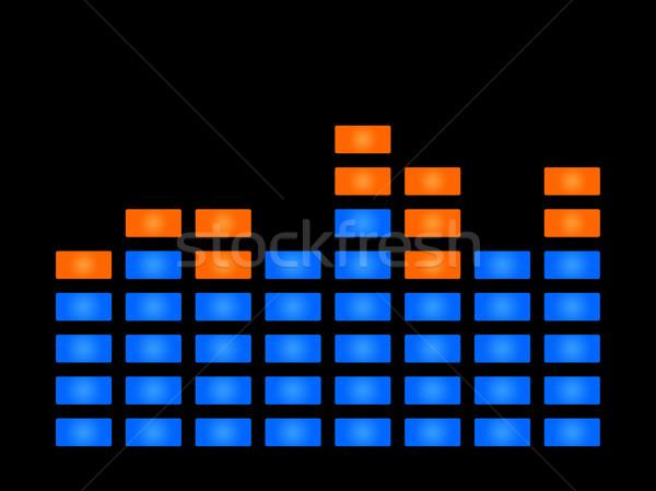 Zene hanghullám kék fekete copy space terv Stock fotó © speedfighter