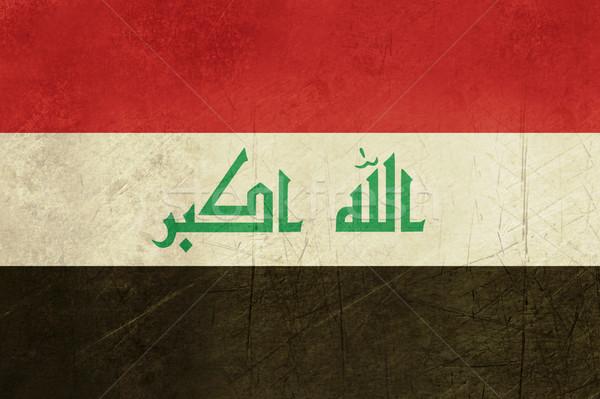 Grunge Irak vlag land officieel kleuren Stockfoto © speedfighter