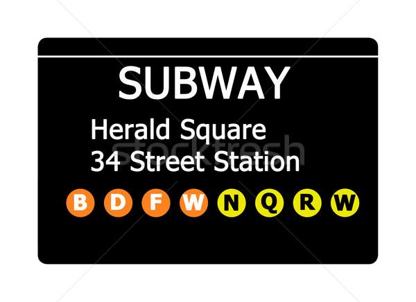 Herald Square subway sign Stock photo © speedfighter