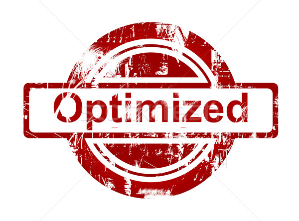 SEO optimized red stamp Stock photo © speedfighter