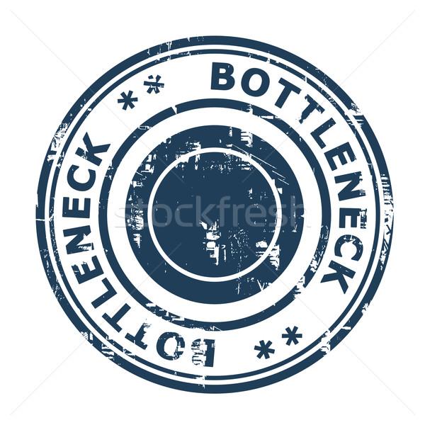 Bottleneck concept stamp Stock photo © speedfighter