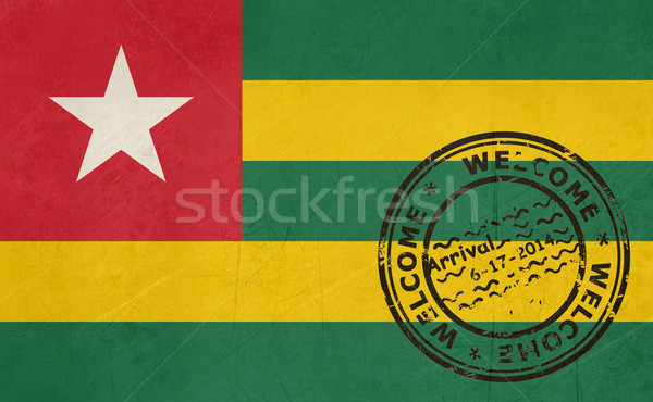 Welcome to Togo flag with passport stamp Stock photo © speedfighter
