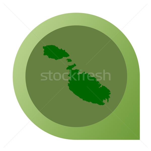 Isolato Malta mappa marcatore pin web design Foto d'archivio © speedfighter