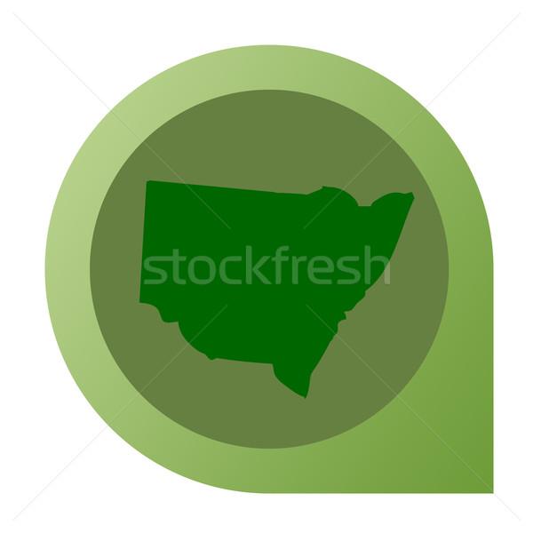 孤立した ニューサウスウェールズ州 地図 マーカー ピン Webデザイン ストックフォト © speedfighter