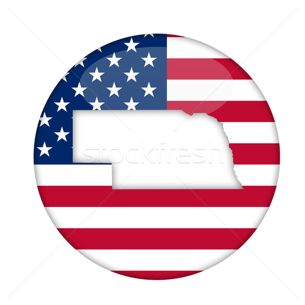 Nebraska america badge isolato bianco business Foto d'archivio © speedfighter