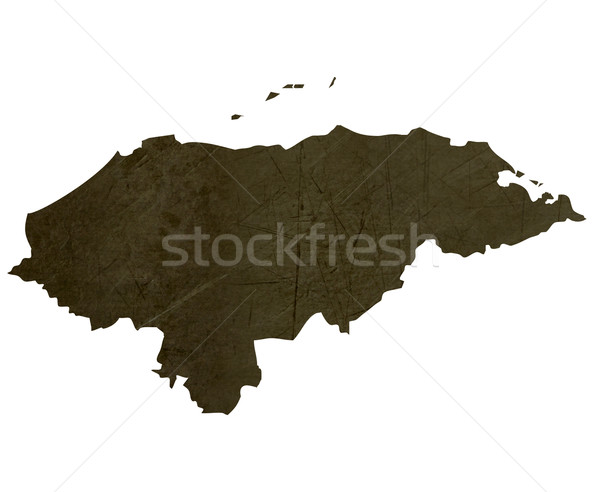 Dark silhouetted map of Honduras Stock photo © speedfighter