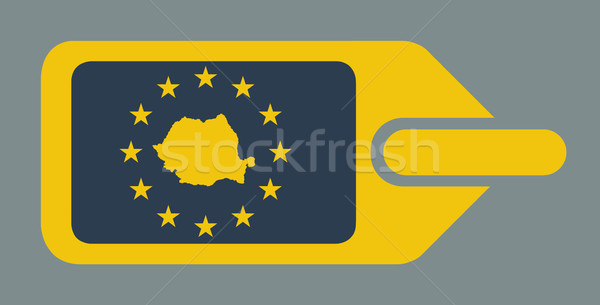 Roemenië europese bagage label reizen tag Stockfoto © speedfighter