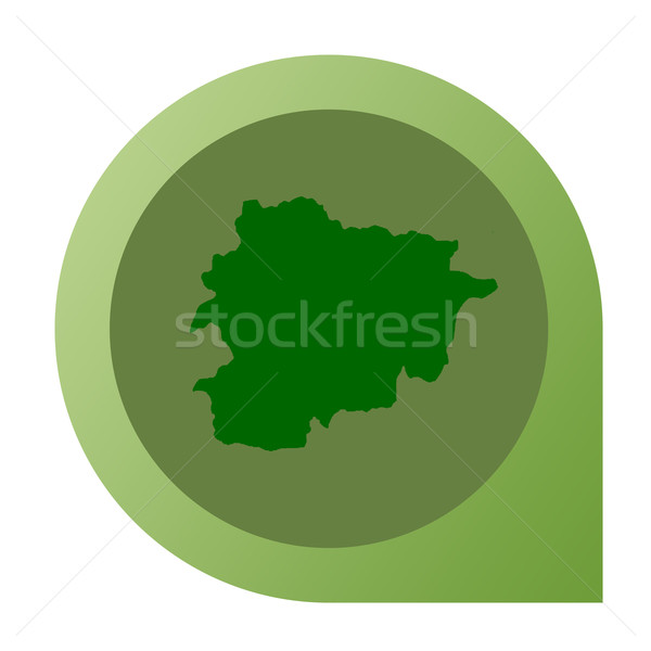 Isolated Andorra map marker pin Stock photo © speedfighter