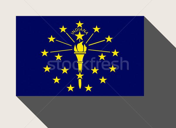 Amerikai Indiana zászló web design stílus gomb Stock fotó © speedfighter