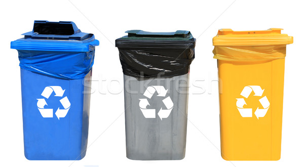 Set of different recycling bins Stock photo © speedfighter