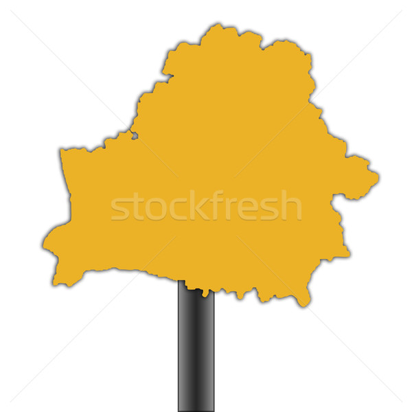 Belarus road sign Stock photo © speedfighter