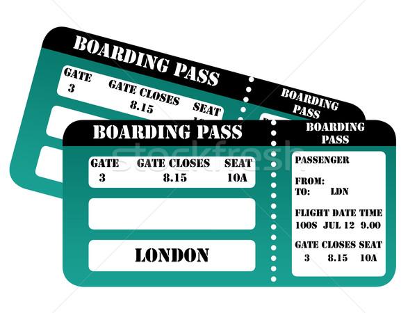 2012年ロンドン 搭乗 合格 孤立した 白 チケット ストックフォト © speedfighter