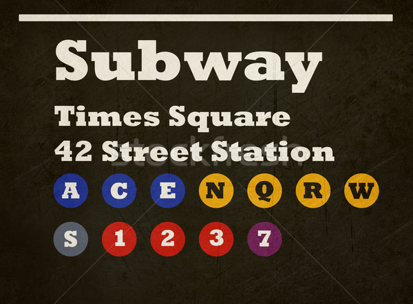 Grunge Times Square subway sign Stock photo © speedfighter