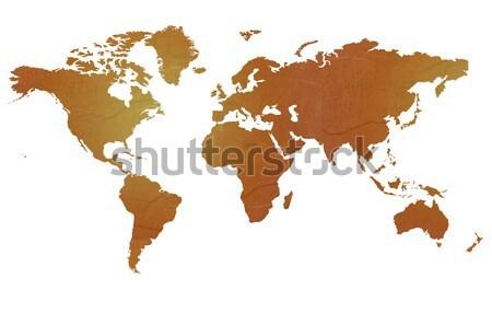 Textured map of the world Stock photo © speedfighter