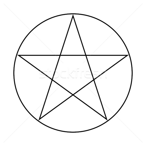 Wicca Pentacle sign Stock photo © speedfighter