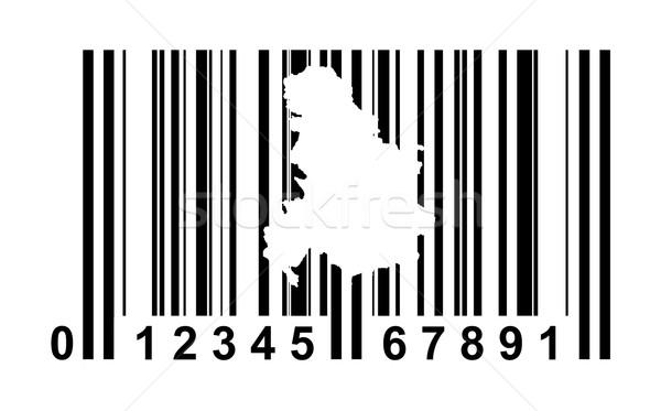 Servië Montenegro streepjescode winkelen geïsoleerd witte Stockfoto © speedfighter