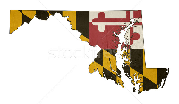 Grunge state of Maryland flag map Stock photo © speedfighter