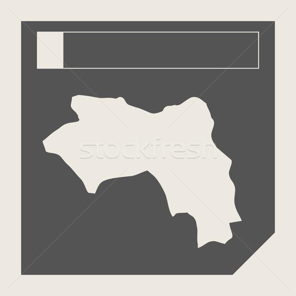 Gine harita düğme duyarlı web tasarım yalıtılmış Stok fotoğraf © speedfighter