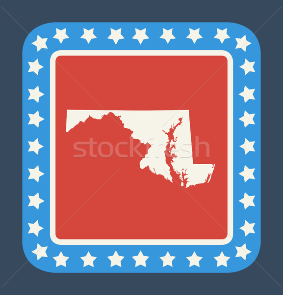 Мэриленд кнопки американский флаг веб-дизайна стиль изолированный Сток-фото © speedfighter