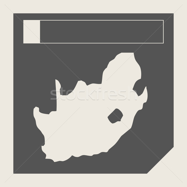 South Africa map button Stock photo © speedfighter