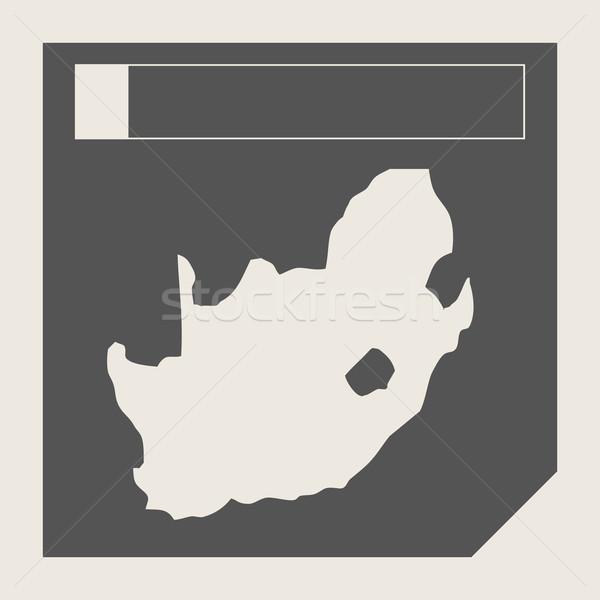 Güney Afrika harita düğme duyarlı web tasarım yalıtılmış Stok fotoğraf © speedfighter