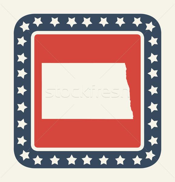 Kuzey Dakota amerikan düğme amerikan bayrağı web tasarım stil Stok fotoğraf © speedfighter
